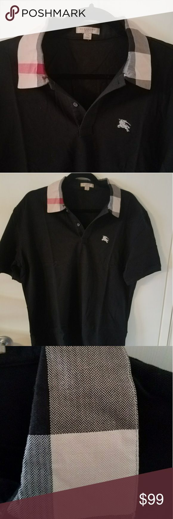 "100% Authentic Burberry Brit polo Shirt XL NEW 100% Authentic Burberry Brit polo Shirt. Very Rare! This is a UK exclusive, not available in the USA!  XL tag But That's in UK Sizing, but Equal to USA Large   BRAND NEW with no tags.  23"" Armpit to armpit. Please compare.  Better Price through PPal Text me  Eric 925-984-1655  Low-ball offers will be ignored, sorry no trades  If you have an offer, make an offer, don't comment and ask if I'll take a certain amount.  Thanks Burberry Shirts"