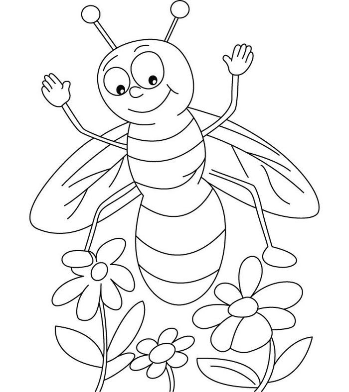 Free Bee Coloring Pages Bee Coloring Pages Insect Coloring Pages Coloring Pages For Kids