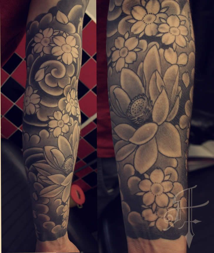 Japanese tattoo sleeve by Antony Tattoo