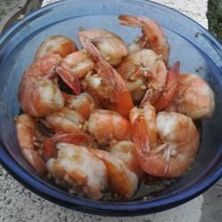 chinese steamed garlic prawns (substitute brandy with rice wine)