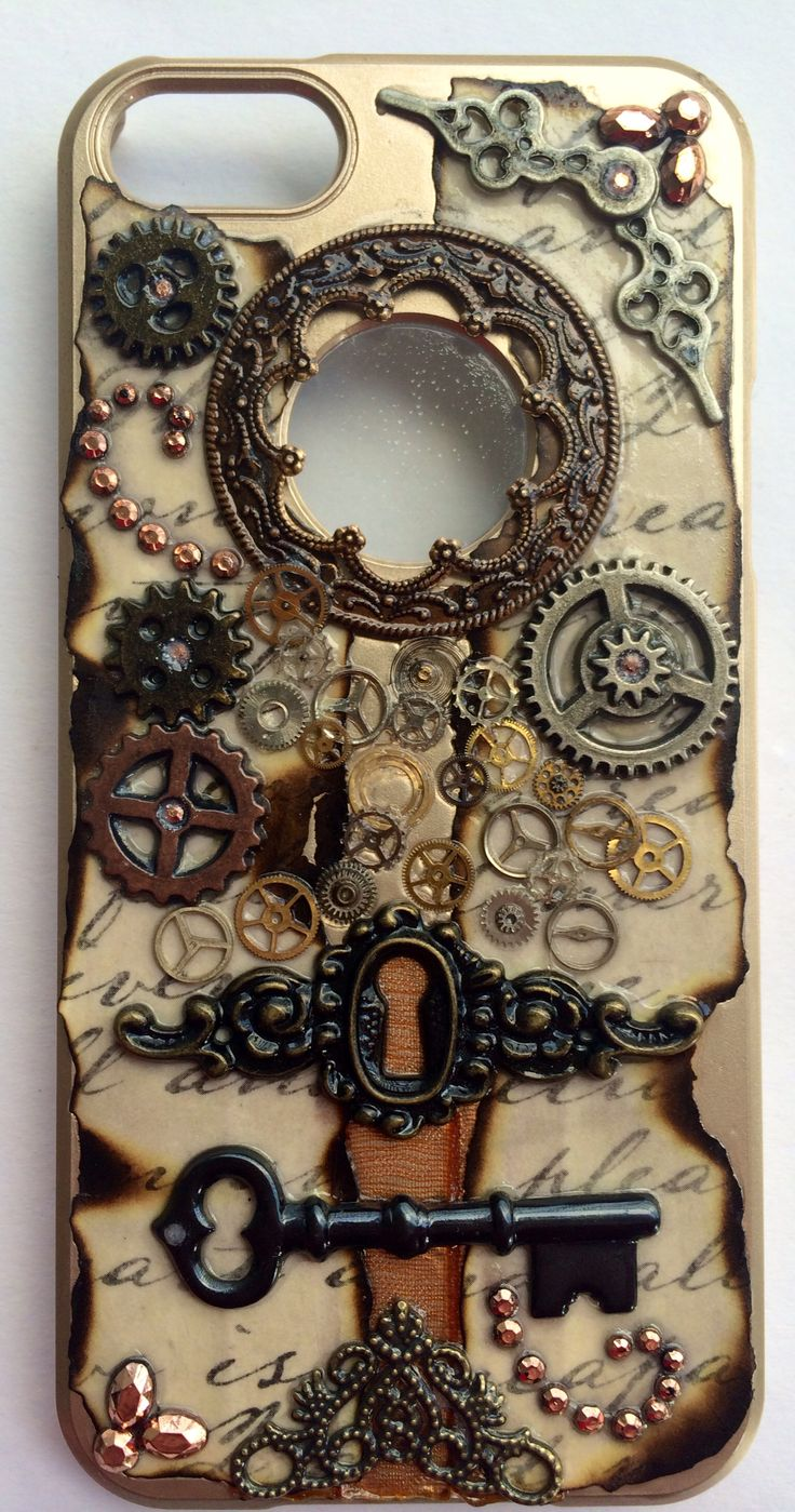DIY Steampunk phone case iPhone 5s