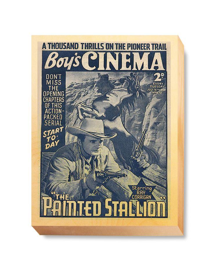 WES 026 Western Comic Cover Boy's Cinema