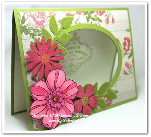 Stampin Up Secret Garden - window card theme