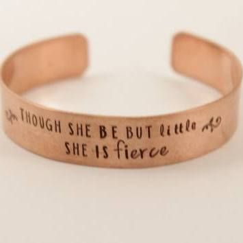 Shakespeare quote bangle