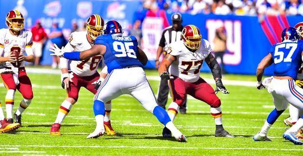 WATCH: Redskins lineman destroys Giants defensive back