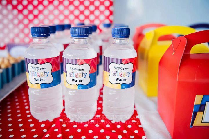Wiggles Water Bottle Label / Wiggles Party by JoStudioPartyPaperie, $7.00