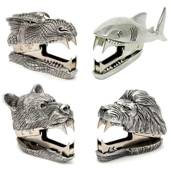 Клыкастые степлеры из серии Sharp-Toothes Critters от Jac Zagoory