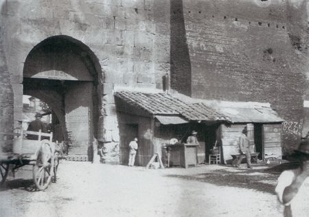 "Ettore Roesler Franz: ""Porta San Lorenzo"" c.a. 1880."