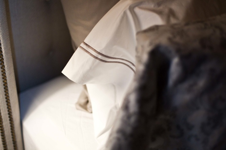 It's all in the details. SFERRA's Grande Hotel bedding features a double row of stitching...and comes in amazing colors!