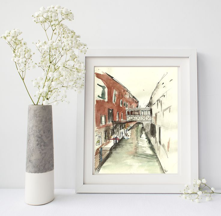 Venesia Sketchbook print available in different sizes