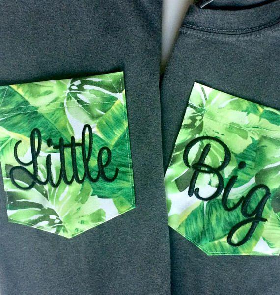 Sorority Big/Little or Monogrammed Jungle Fabric Pocket