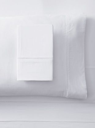 48% OFF Downright Ambience 400 TC Sateen Embroidered Sheet Set (White)