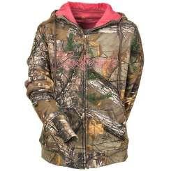 Carhartt Sweatshirts: Women's 101433 977 Zip Front Clarksburg Camo Sweatshirt