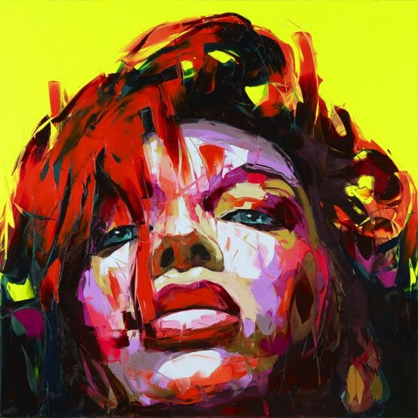 oil and knife painting by Francoise Nielly