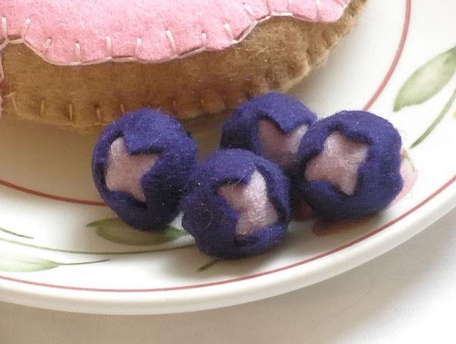 Felt blueberries.