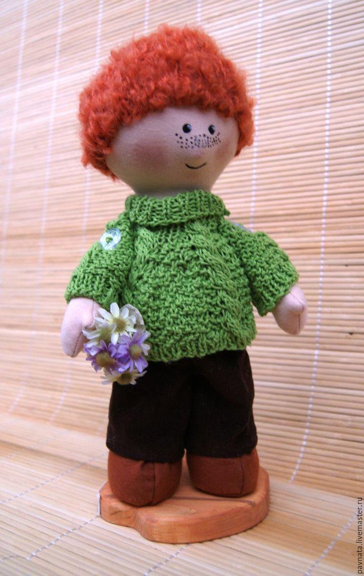 Купить Рыжий мальчик Прохор - комбинированный, рыжий, счастье, подарок, мальчик, кукла, трикотаж хлопок
