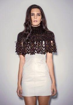 Mila Soul-Warmer. Luxury limited edition knitwear www.elkaknitwear.co.nz