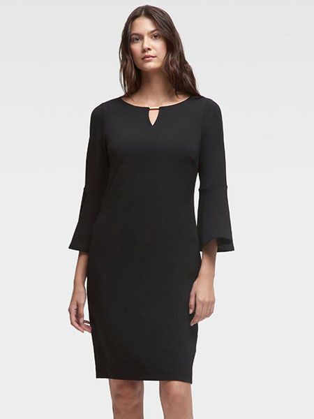 Women Notched Neck Casual Midi Dress 2