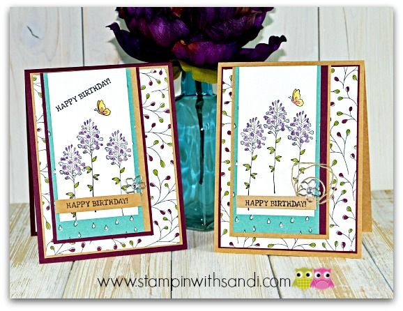 Stampin Up Flowering Fields Sale-a-bration stamp set ...