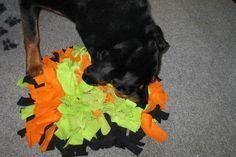 Schnüffelteppich für Hunde – auf der Seite gibt es noch mehr Basteleien / DIY …