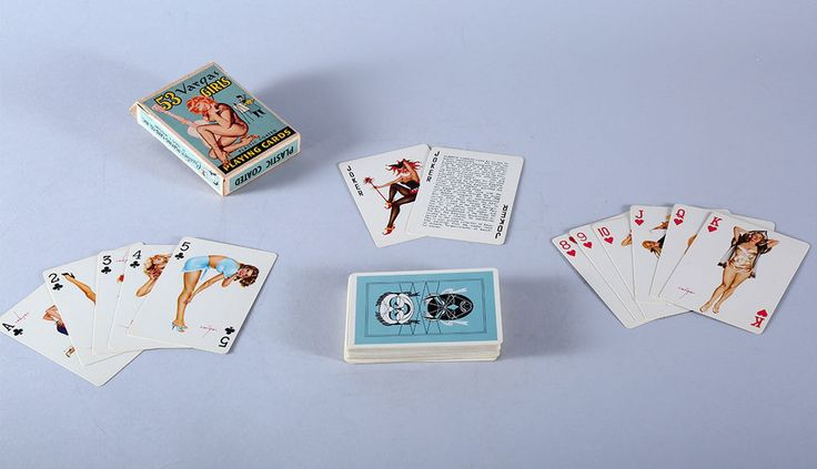 Complete Unused Boxed Deck Of Vintage 53 Vargas Girls Playing Cards NR Pin-Up NR #CreativePlayingCardsInc