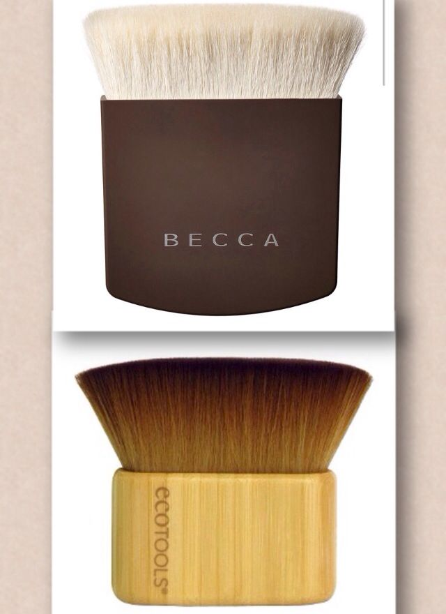 Dupe alert! The Ecotools Face and Body Sculpting Brush ($11.19) is very similar to the the Becca One Perfecting Brush ($49).