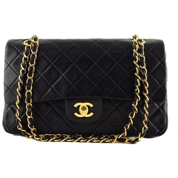 Chanel Black Lambskin Medium Classic 2 55 Shoulder Flap Bag