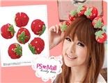 6pcs Soft Sponge Strawberry Shaped Hair Care Roller Set (Pink) - http://www.scents.joystin.com/2013/01/25/6pcs-soft-sponge-strawberry-shaped-hair-care-roller-set-pink/