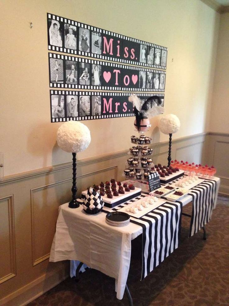 1950's movie film Bridal/Wedding Shower Party Ideas | Photo 10 of 10 | Catch My Party