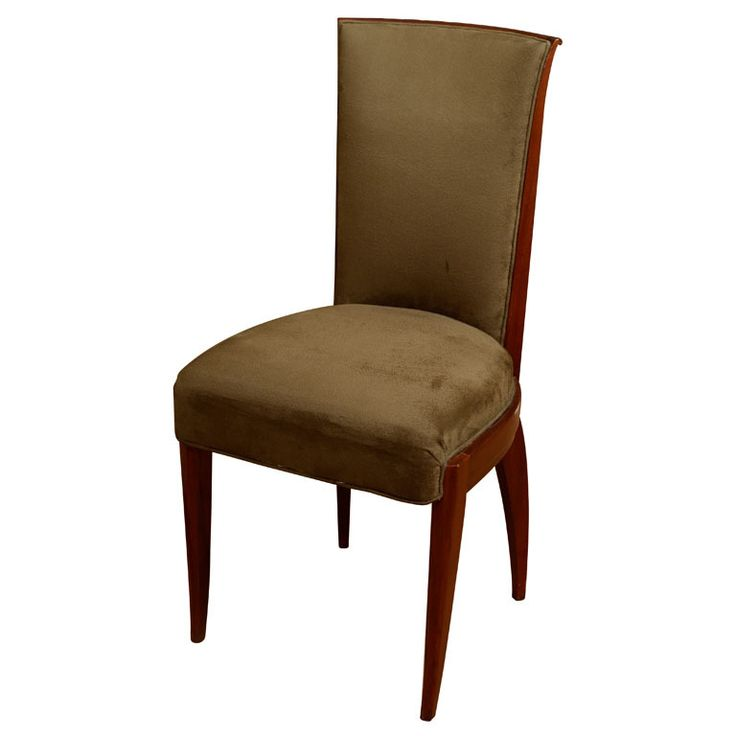 Set Of 4 Gouffe Paris Mahogany Upholstered Dining Or Desk Chairs | From A  Unique Collection Part 58
