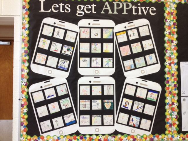 Let's Get APPtive in PE bulletin board. Try this with other FCS topics - Ex. Download a Healthy.Applate, or . . .