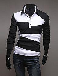 férfi tavaszi alkalmi elegáns slim fit galléros póló