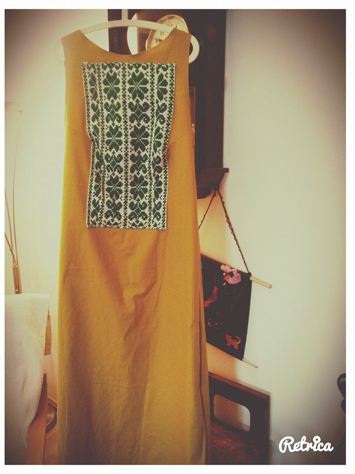 Ethnic yellow dress