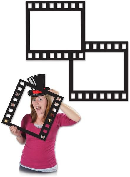 Light, camera, action your way into fame when you use these fun 12'' black and white photo frames for event pictures. Great for you and your friends to crowd in