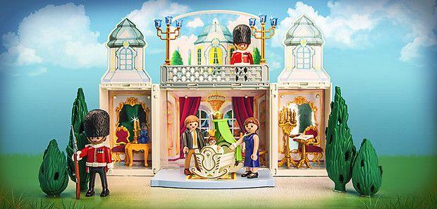 Prinz William + Kate Middleton und Baby George als Playmobilfiguren :D