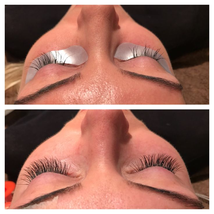 Before and after (4 weeks..) Classic lashes B 0.20, 11mm.