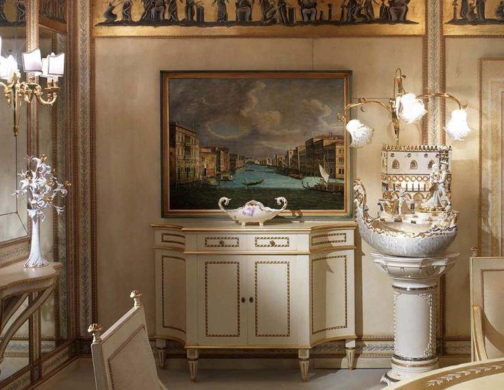 Итальянская керамика #Lorenzon ручной работы. #Фонтан #Венеция в #интерьере.