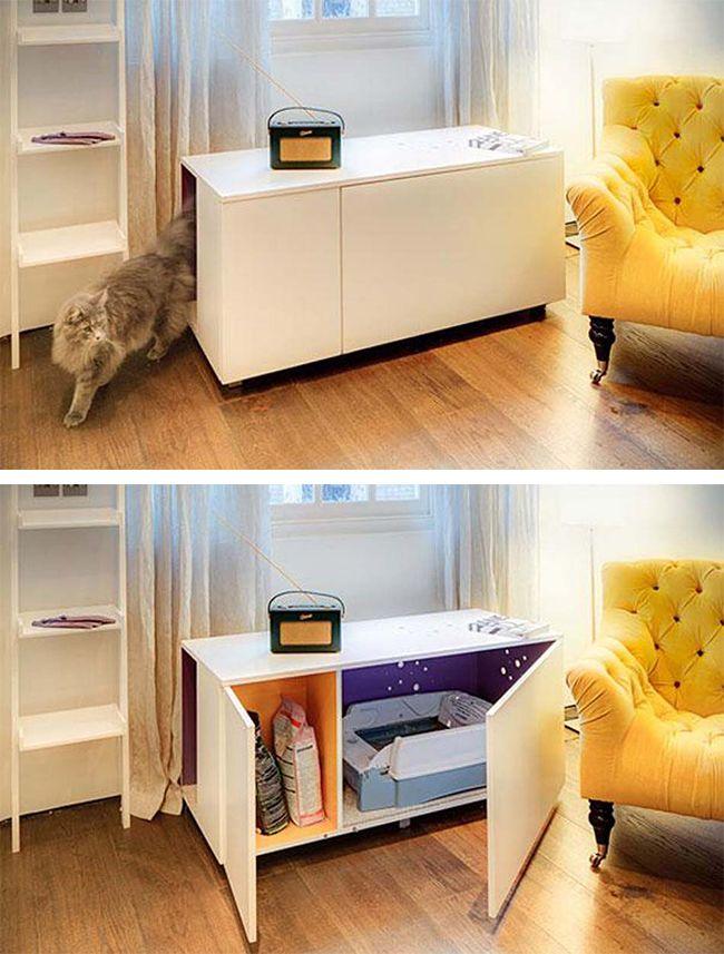1000 id es sur le th me meuble litiere chat sur pinterest cacher les liti res liti res hidden. Black Bedroom Furniture Sets. Home Design Ideas