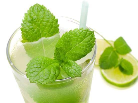 Mojitos: Ingredientes: 1 litro de agua mineral 3 cubitos de hielo 2 cucharadas de azúcar 3 hojas de hierbabuena 1 pieza de limón (jugo) 2 onzas de ron blanco  Preparación En un vaso High-bolero se pone la azúcar con el jugo de limón y las 3 hojas de hierbabuena. Se muelen con una cuchara cocktelera y se agrega el ron, los hielos y se termina de llenar con agua mineral.