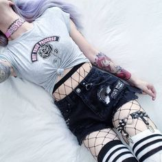 Take a look at these creepy cute 30 Pastel Goth outfits ideas for this season! Swimwear, crop-tops, skirts & everything you'll love to wear for this summer!