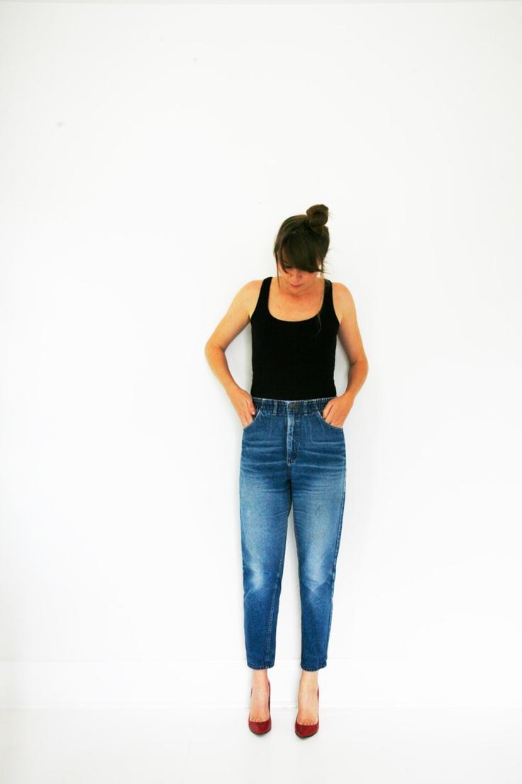 Vintage 80s High Waisted Jeans Lee Brand Denim by VintageReBelle