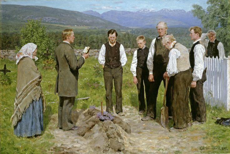 En bondebegravelse (1883-1885) - Erik Werenskiold