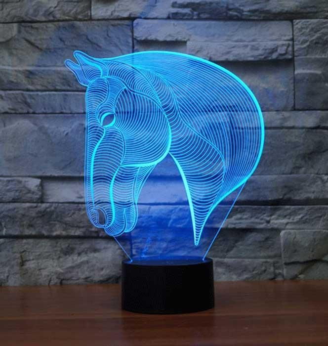 Horse Head 3d Illusion Lamp Horse Lamp 3d Night Light 3d Illusion Lamp