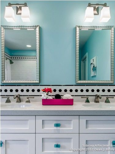 Teen bathroom teen bathroom in blue several themes for for Bathroom ideas in blue