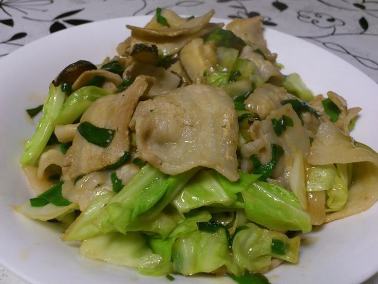 めんつゆで野菜炒め。ウマイ!