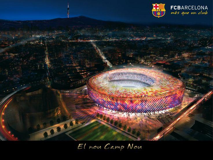 Camp Nou FCB Night HD Widescreen Wallpaper-
