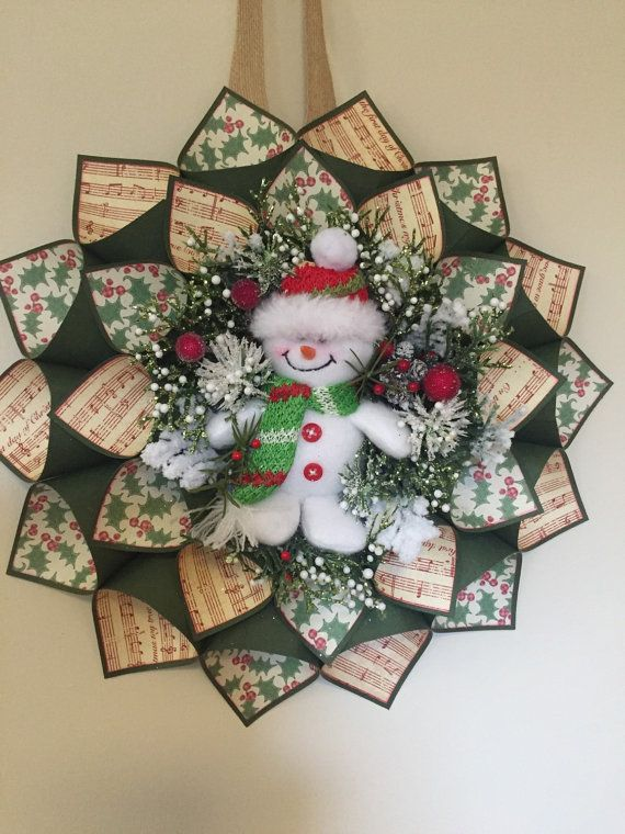 Snowman Christmas Wreath by Craftnrelax on Etsy                                                                                                                                                                                 More
