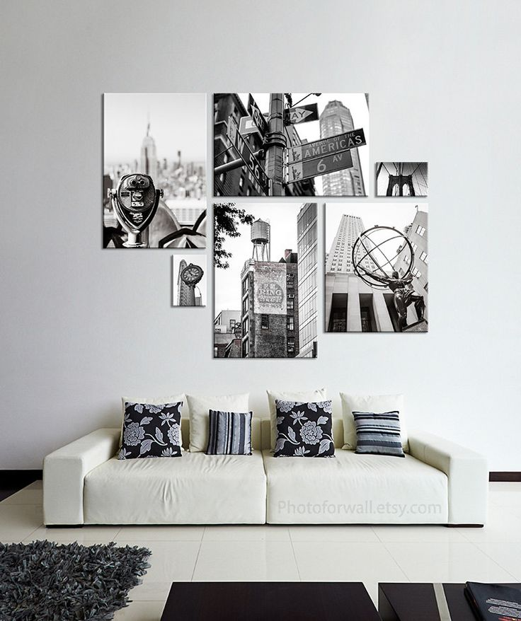New York photography Set of 6 prints large canvas art/large wall art/New York black and white photography personalized home decor NYC poster by PHOTOFORWALL on Etsy