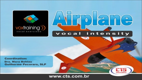 VoxTraining - Airplane - Vocal Intensity  ($14.99) To play this game, the player must keep the airplane's route through controling the volume of the voice. In addition, the player must capture the clouds to raise the score.