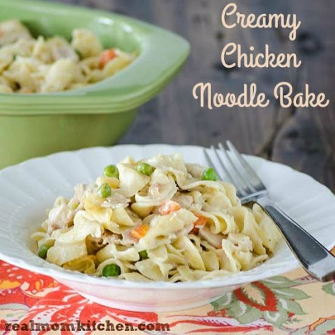 Creamy Chicken Noodle Bake | realmomkitchen.com